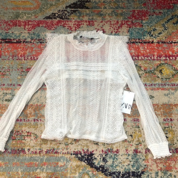 Zara lace top NWT